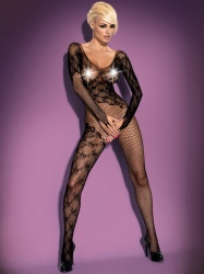 Bodystocking, kostium, czarne - F210 black