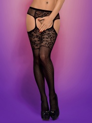 Garter stockings S211 black