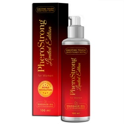 Olejek do masażu, damski - PheroStrong Limited Edition massage oil 100 ml